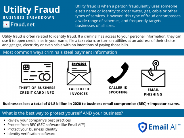 Utility Fraud Infographic