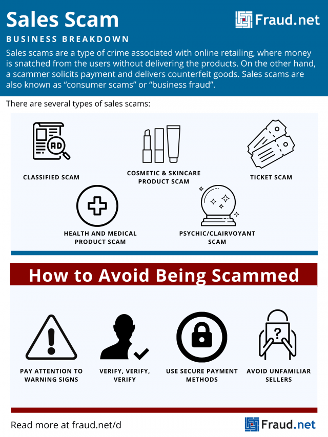 sales scam definition