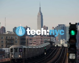 Photo of New York with tech:nyc logo