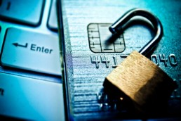 Padlock on a credit card