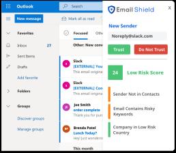 Email Shield Screenshot
